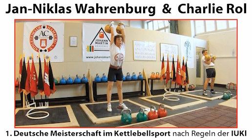 Jan-Niklas Wahrenburg und Charlie Rol - Stoßen und Reißen (DMIK 27. August 2011)