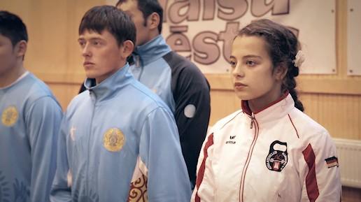 Josephine Pora bei der IUKL Open European Superiority U-18 (Kettlebell Jugendmeisterschaft) in Talsi, Lettland am 14. Novembe 2012.